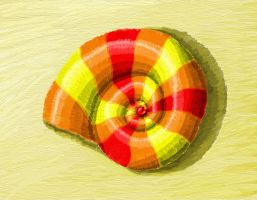 Colourful Nautiloid Shell by dracontes