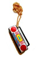 Boom Box Necklace by deconstructedstars