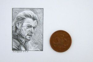 Thor - Miniature Portrait by phoenix132