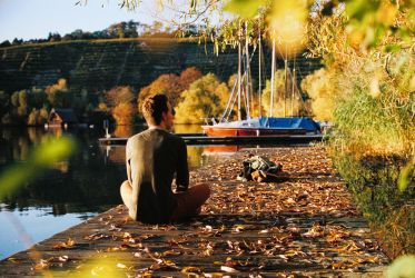 an autumn day at the lake by Rona-Keller