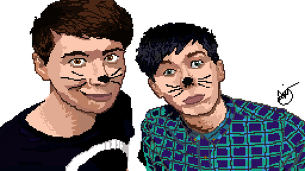Pixel Art- Dan and Phil by ironsepticgirl22