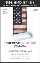 4th July / Independence Day Flyer Template by Hotpindesigns