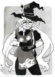 Inktober day 23: Muddy + Artist Witch by Dalblauw