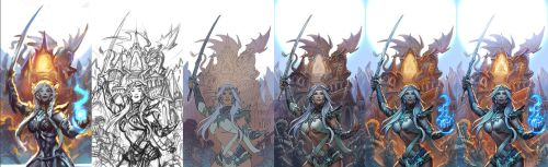 Elven Rage cover - wip by gugu-troll