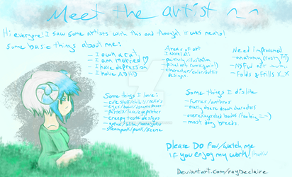 Rayon Declaire Meet The Artist by Raydeclaire