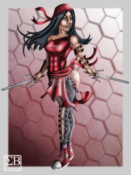 Marvel Elektra  fan art 1