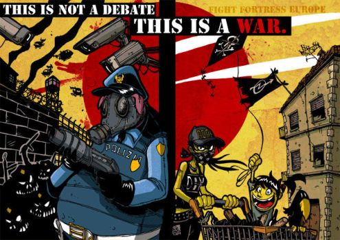 this is not a debate. by zerocalcare