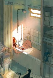 Mid day bath in the middle of summer. by PascalCampion