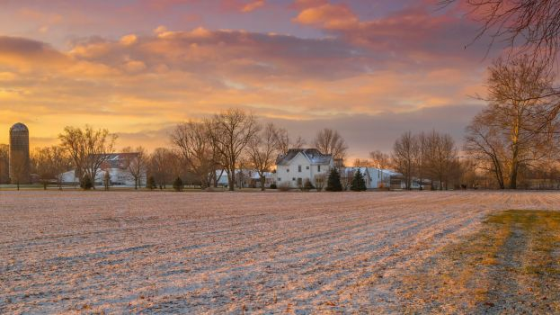 Warmth in the cold - Country Indiana USA by StachRogalski