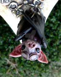 Steampunk Bat Sculpture by MysticReflections