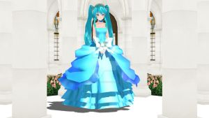 [MMD] TDA Ice Rose Miku Down by SilverDreamyRose