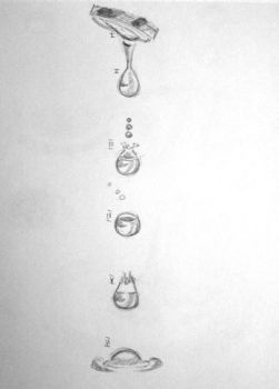 Study of water drops 1 by KanaGo