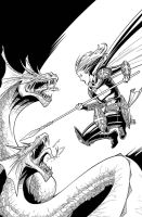 Magdalena vs Dragons by NelsonBlakeII
