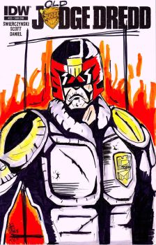 Judge Dredd blank cover by spacetick