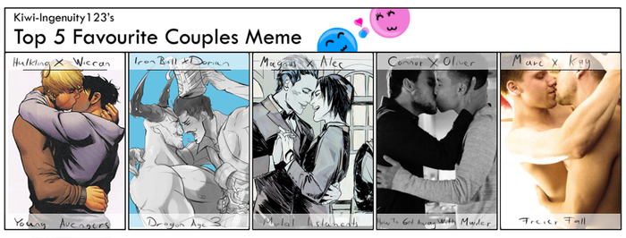 Favourite (Canon Gay) Couples Meme by AstralNight