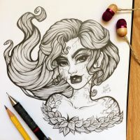 Poison Ivy - Sketch by TheLittleArtyThing