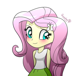 Fluttershy Blushes by GrayTyphoon