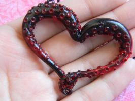 Tentacle Heart Necklace by ThePetiteShop