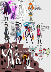 IZ headcanon arc 2 cast by Glitched-Irken