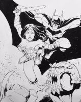 Batman and Wonder Woman by berniecooke