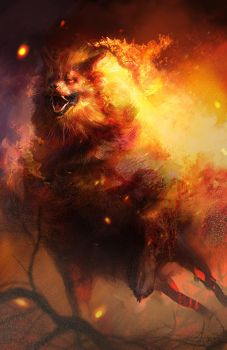 Arcanine used Flame Charge! by LindseyWArt