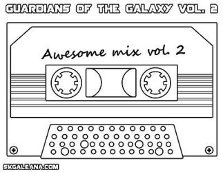 Coloring Page from Guardians of the Galaxy vol2 by SKGaleana