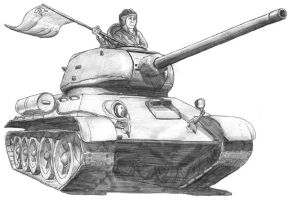 T-34-85 by A-Teivos