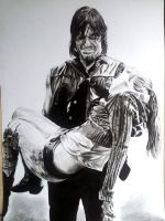 Daryl and Beth from the walking dead by mchofmann