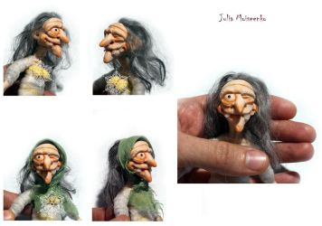 Russian Witch Baba Yaga part 1 - Head by Juliola