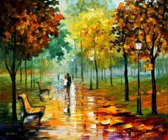 AUTUMN LEAVES by Leonid Afremov by Leonidafremov