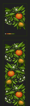 Pixel Art: tangerines by Shumshum
