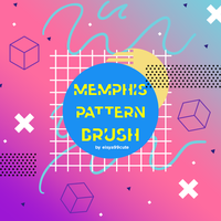 Memphis Pattern Brush #2 by eisya99cute