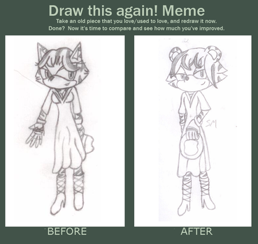 Before and After - Anastasia the Tiger by Sockmonkey145