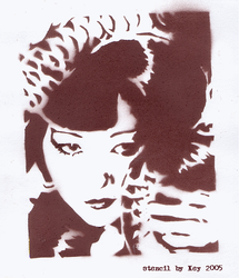 Anna May Wong Stencil by nihilisticangel