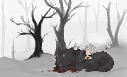 Henry and the Wolf by B-Blue-e