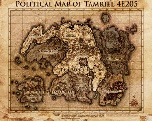Elder Scrolls: Political Map Tamriel by SkullSmithy
