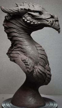 Goliath Dragon Bust Creature Sculpt 1 by AntWatkins