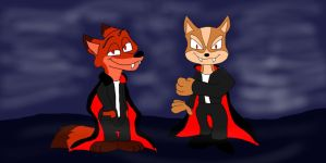 Count Fox and Count Nick by SammyD91