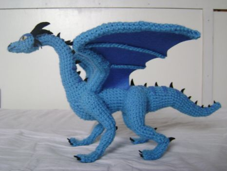 Crochet Dragon Luind 2 by xXShilowXx