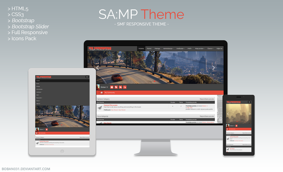 SA:MP SMF Responsive Theme by Boban031