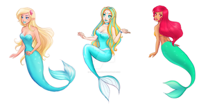 MerMay2017 Days 1-3 by cocorodraws