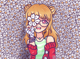 [Personal/OC] Flower wall for a flower girl by KibbyCreates