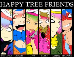Mad Happy Tree Friends by StrawberryMarshmello