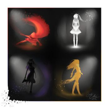 The RWBY Quartet by CourtneyCrawford