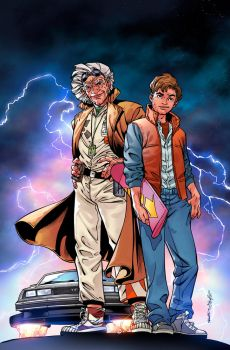 Back To The Future #23 Cover B by panelgutter