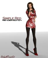 Simple Red Render by bstylez