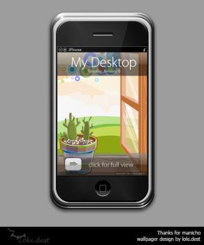 iphone wallpager - cacti by lokidest