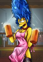 The waitress Marge by Ro4le