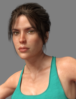 Lara Genesis 3 Female - update (closeup) by tigerste