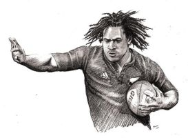 Rodney So'oialo - rugby no 8 by Alleycatsgarden